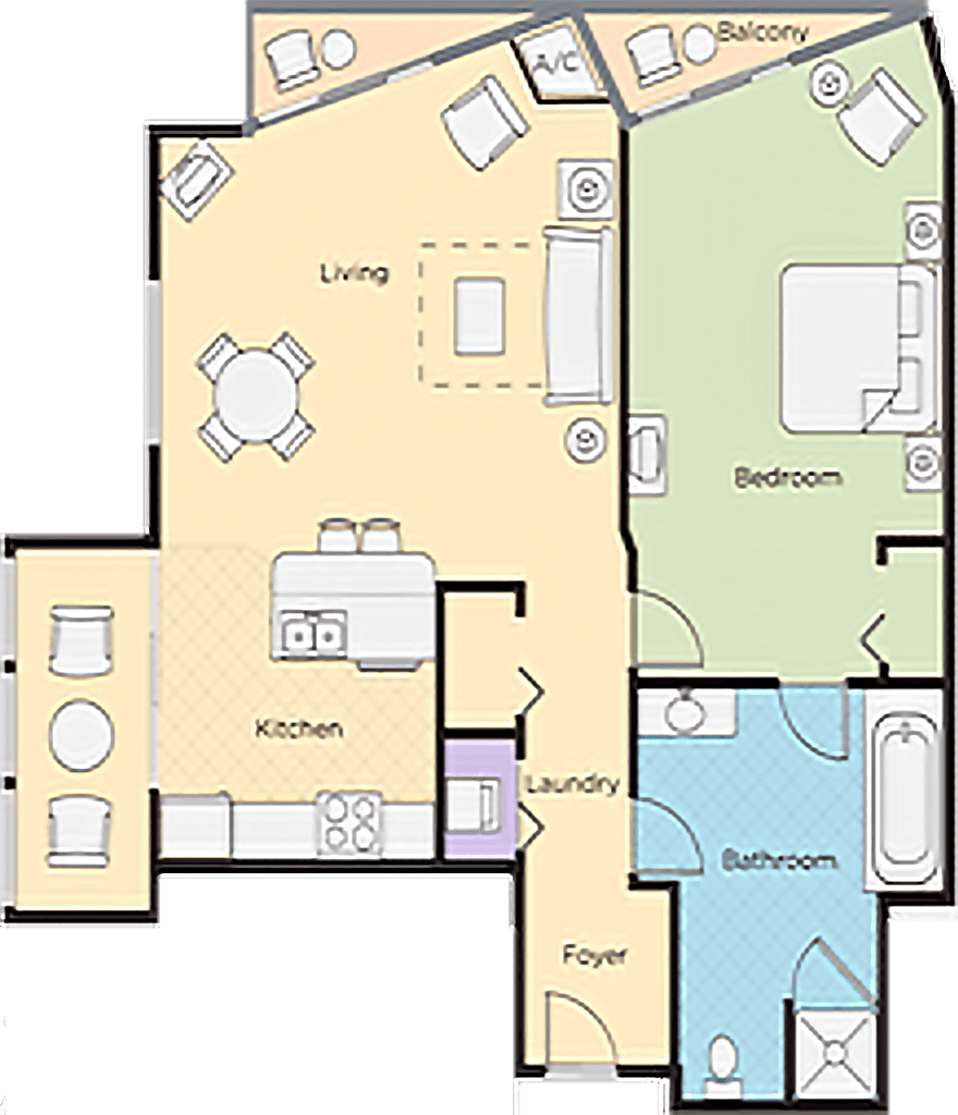 Shelby Resorts One Bedroom Deluxe Lower Level