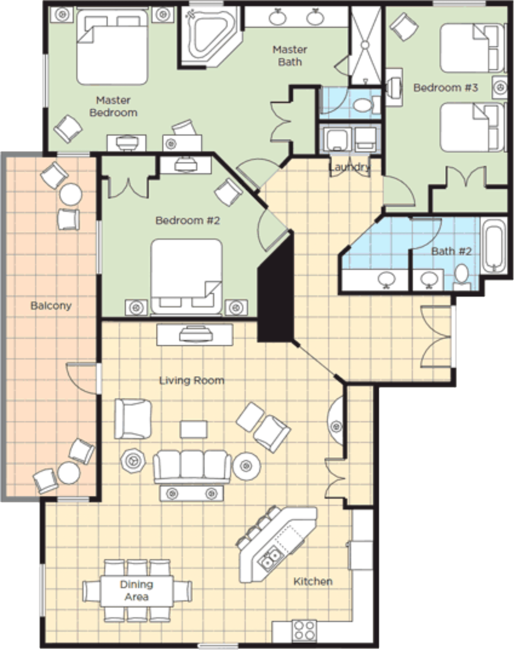 Image of floorplan for Three Bedroom Presidential